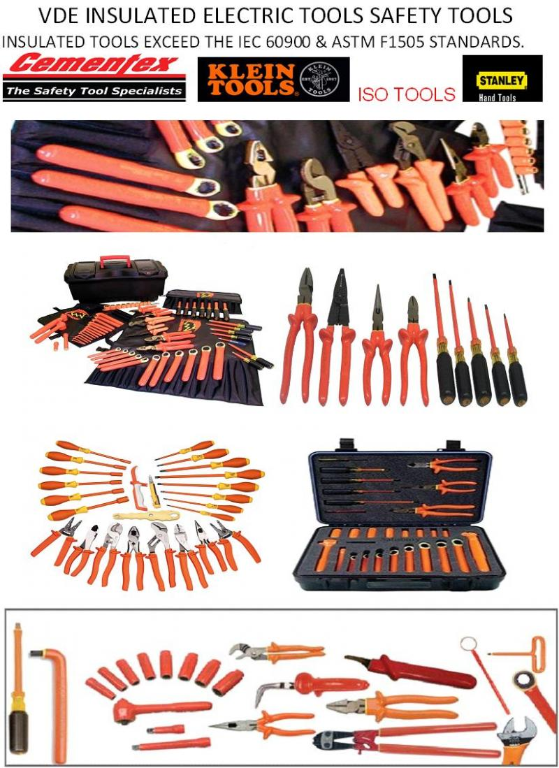 VDE Tools, Insulated Tools, Safety Electrical Tools, 1000V